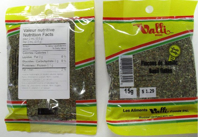 Totally Recalled: more dried basil with suspected salmonella contamination