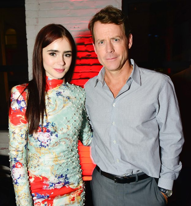 TIFF PARTY: Greg Kinnear leads a stampede of actors to the buffet at the Writers after-party