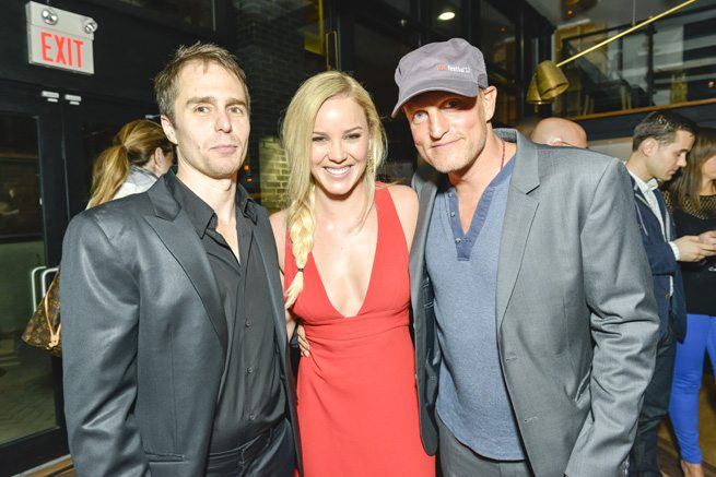 TIFF PARTY: Colin Farrell, Woody Harrelson and other celebs revive a flagging Seven Psychopaths party