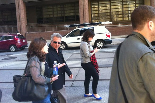 SPOTTED: Dustin Hoffman, strolling down Victoria Street