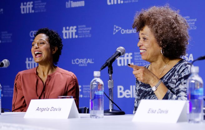 TIFF PRESS CONFERENCE: Shola Lynch talks afros and Angela Davis talks Communism at the Free Angela presser