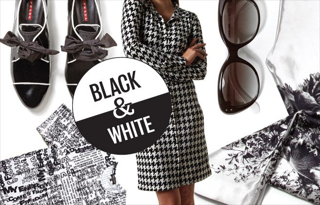 The Look: black and white is stunning, timeless and this season's biggest trend