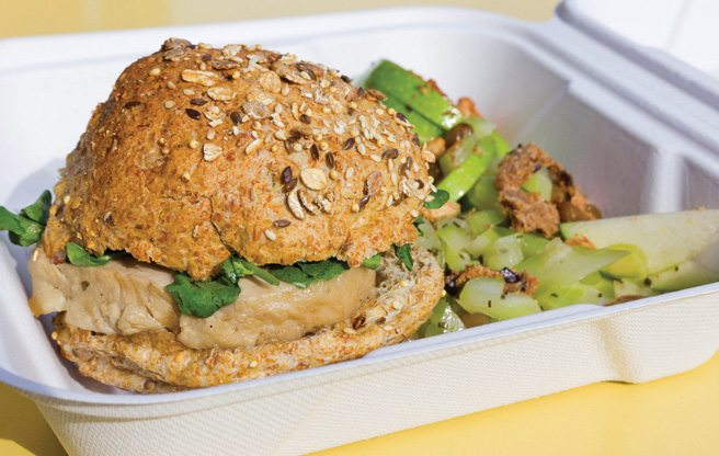 Weekly Lunch Pick: the sandwich and salad special at the new Sanagan's Meat Locker