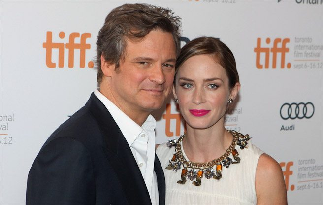 TIFF RED CARPET: Colin Firth celebrates his 52nd birthday with Emily Blunt at the Arthur Newman premiere