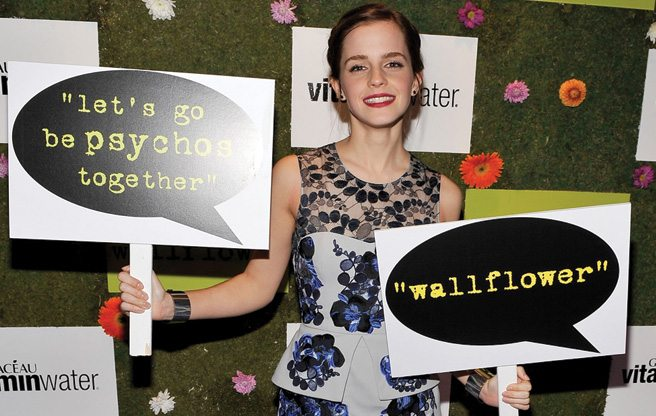 TIFF PARTY: Emma Watson and Nina Dobrev go back to school at the Perks of Being a Wallflower party