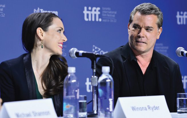 TIFF PRESS CONFERENCE: Winona Ryder insists Ray Liotta is more than just a tough guy at the Iceman presser