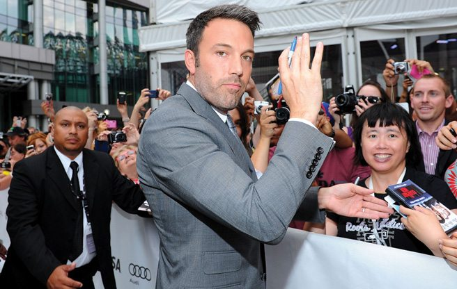 TIFF RED CARPET: Ben Affleck kisses one lucky fan at the Argo premiere