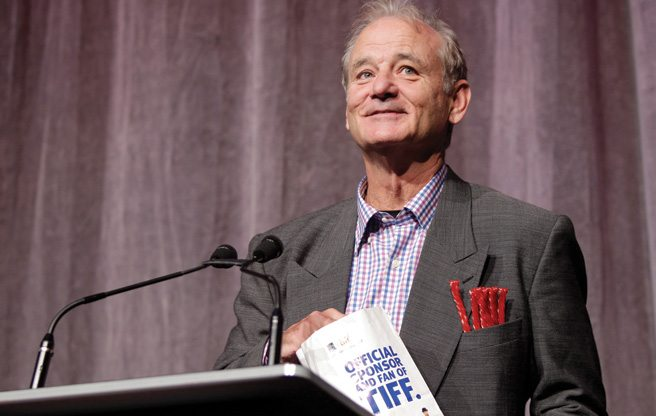 TIFF RED CARPET: Bill Murray wears candy for Hyde Park on Hudson