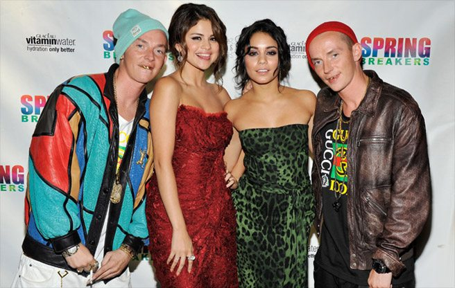 TIFF PARTY: Selena Gomez, Vanessa Hudgens and a pair of hard-partying twins at the Spring Breakers shindig