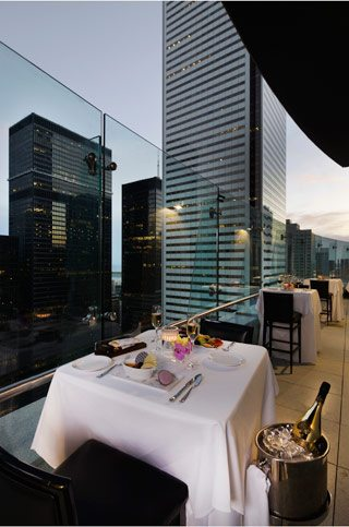 Check out the new 31st-storey terrace at the Trump Tower's Stock restaurant