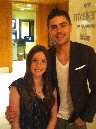SPOTTED: Zac Efron makes one fan's day at the Ritz-Carlton