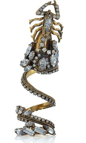 The Find: a creepy, crystal-encrusted scorpion ring
