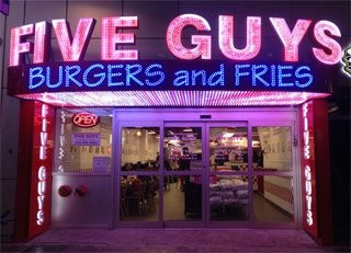 Attention downtown burger fiends: Five Guys is now open at Yonge and Dundas