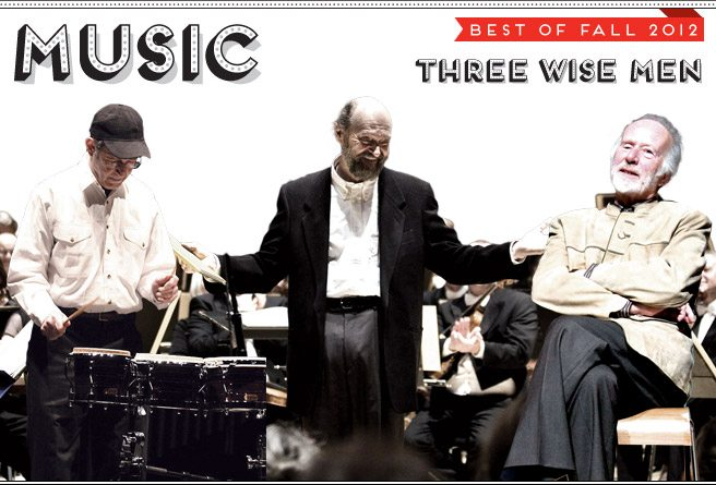 Best of Fall 2012: Steve Reich, Arvo Pärt and R. Murray Schafer kick off Soundstreams' 30th anniversary season