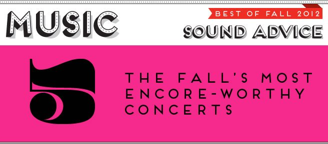 Best of Fall 2012: the season's top five concerts, from Dan Deacon to Leonard Cohen
