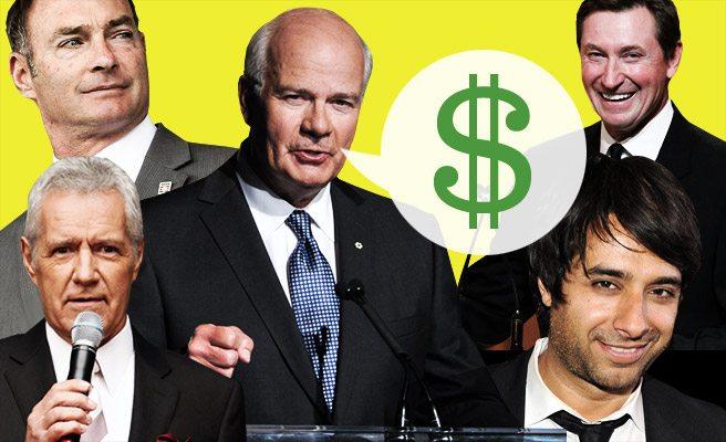 Money Talks: 10 Toronto celebrities who command five-figure speaking fees