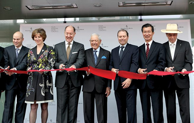 GALLERY: Issy Sharp and Daniel Boulud cut the ribbon on the new Four Seasons Hotel