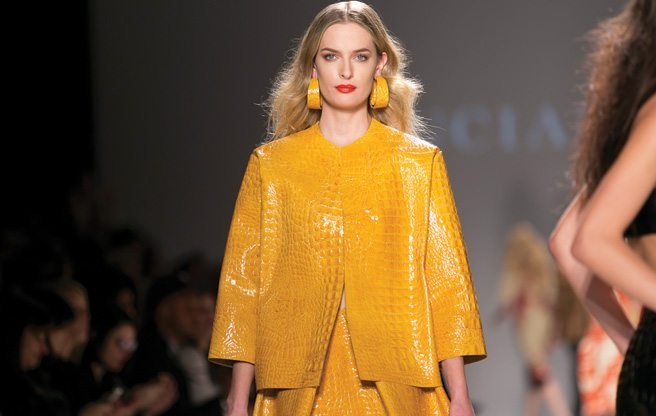 Toronto Fashion Week: Lucian Matis shows nipples, croc leather and bustiers for spring/summer 2013