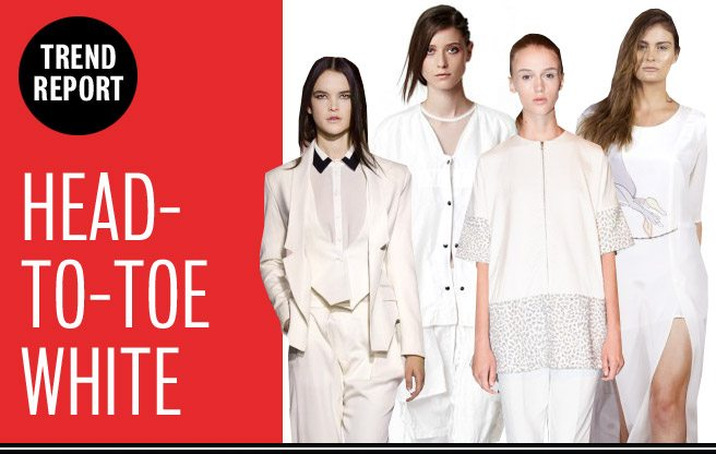 Runway Trend Report: head-to-toe white at Rogue Fashion Week