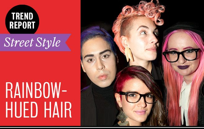 Street Style Trend Report: rainbow hair at Toronto Fashion Week