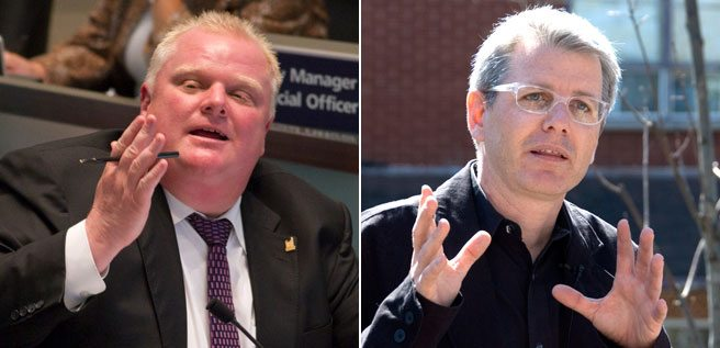 QUOTED: Rob Ford and Adam Vaughan offer a taste of how vicious a mayoral by-election could get