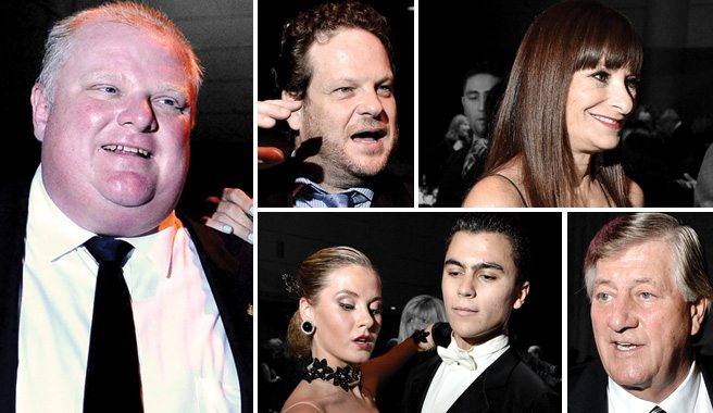 Camera: Rob Ford cavorts with the city's moneyed arts patrons at the Mayor's Ball for the Arts