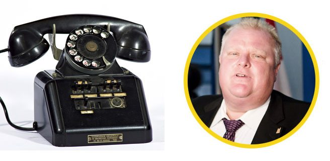 (Images: phone, Frédéric Bisson; Rob Ford, Christopher Dros)