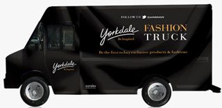 "SPOTTED: Yorkdale's ""fashion truck"" selling clothes at Front and Bay"