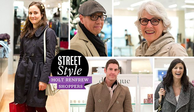 Street Style: 18 looks at the holiday shoppers at Holt Renfrew
