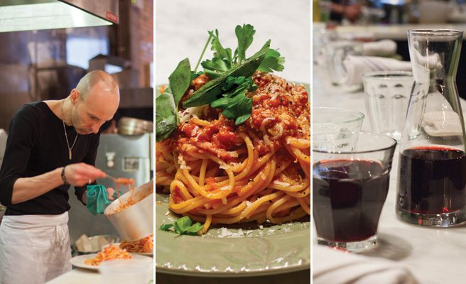 Weekly Lunch Pick: a hearty plate of spaghetti all'Amatriciana at Strada 241