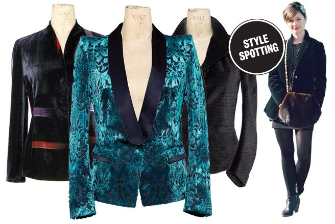 The Look: the soft luxury of the velvet blazer is back in style