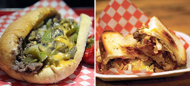 Trend we Love: Philly cheese steak, spotted in low- and middlebrow incarnations