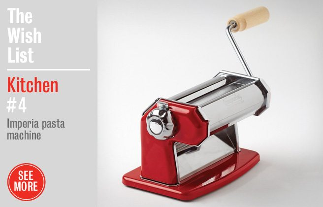 Holiday Gift Guide 2012: a shiny red pasta machine for Mario Batali wannabes