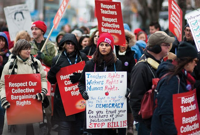 The Moment: the Bill 115 dust-up has been as mature as a cafeteria food fight