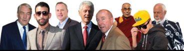 Conrad Black, José Bautista, George Cope, Bill Clinton, Larry Tanenbaum, the Dalai Lama, Justin Bieber, Don Cherry