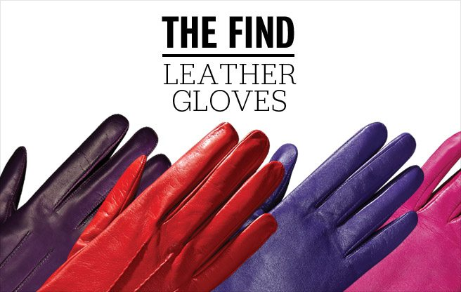 The Find: bright leather gloves for a late-winter pick-me-up