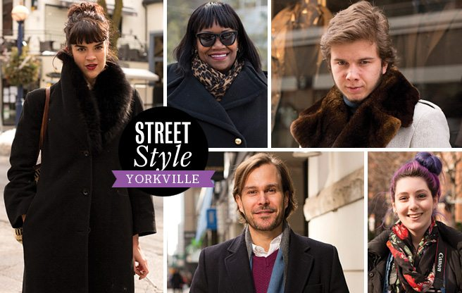 Street Style: fashionable cold-weather outfits in Yorkville