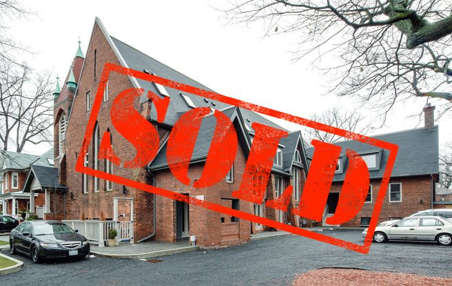 Sold: a townhouse in a 120-year-old former church in the east end for $719,900
