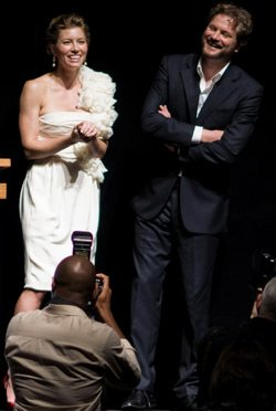 Colin Firth and Jessica Biel dine on College Street; Biel's underwear unconfirmed
