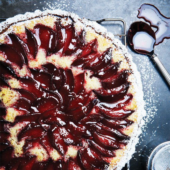 Recipe: Perfect plum tart from Joanne Yolles of Scaramouche and Pangaea fame
