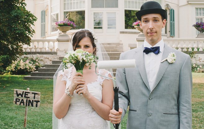 Real Weddings 2013: a Magritte-inspired surrealist wedding at Spadina House