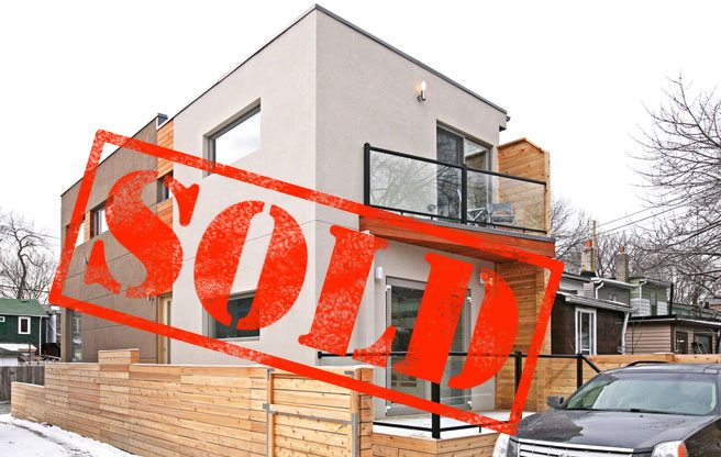 Sold: a brand new three-bedroom home in Leslieville for $881,000