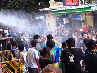 Khao San Road is hosting a beer garden and massive water fight for Songkran