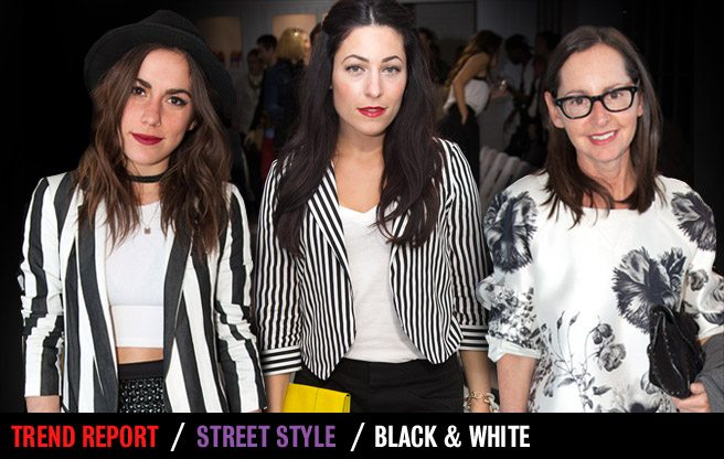 Street Style Trend Report: black and white at Toronto Fashion Week