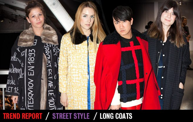 Street Style Trend Report: extra-long coats at Toronto Fashion Week