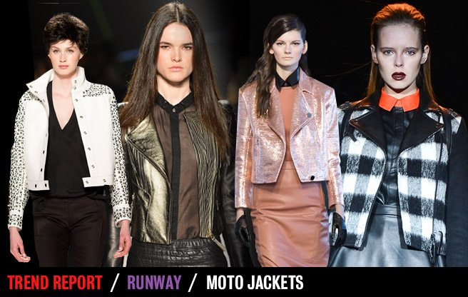 Runway Trend Report: moto jackets at Toronto Fashion Week