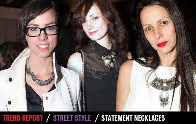 Street Style Trend Report: big, bold necklaces at Toronto Fashion Week