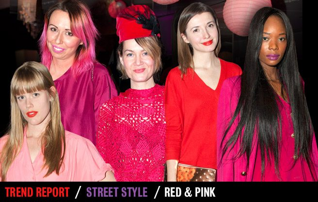 Street Style Trend Report: bright pink and red at Toronto Fashion Week