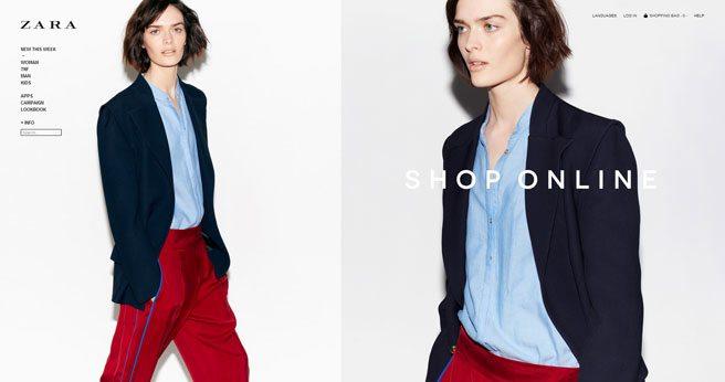 Zara launches online shopping in Canada
