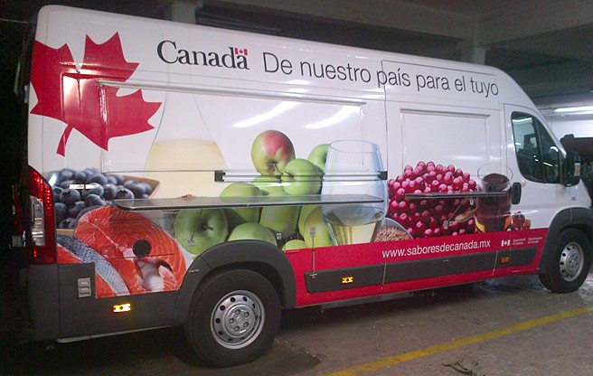 A taxpayer-funded food truck is serving poutine and tourtière on the streets of Mexico